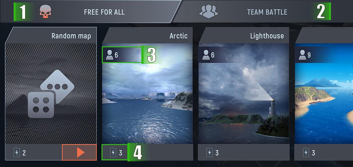 Выбор карты